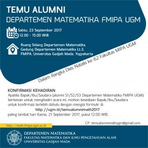 Temu Alumni Matematika UGM 2017